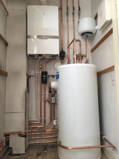 boiler and unvented cylinder instillation