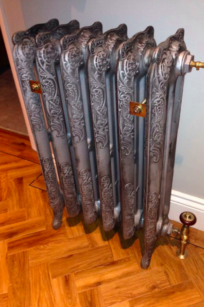 A beautiful cast iron radiator we installed