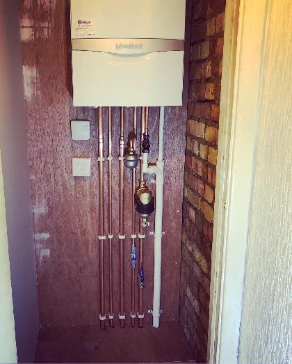 A Vaillant combination boiler we installed